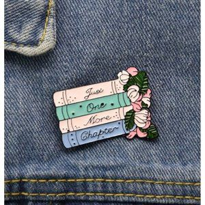 ONE MORE CHAPTER Bookworm Pin NEW